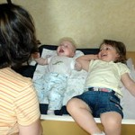 Using Changing Table to Change a Baby Diaper