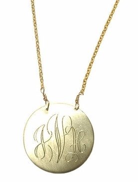 Impressive and stylish gold monogram necklaces