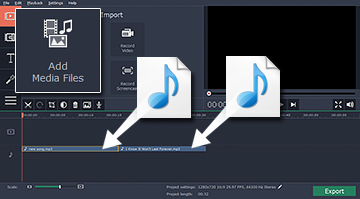 Combining Your Child's Favorite Songs with the Movavi Video Editor